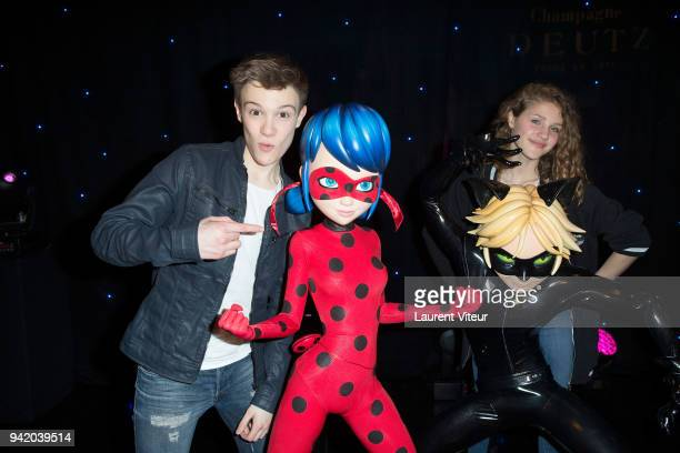Singers LenniKim and Lou attend 'Miraculous Characters'Wax Wok Unveiling' at Musee Grevin on April 4 2018 in Paris France