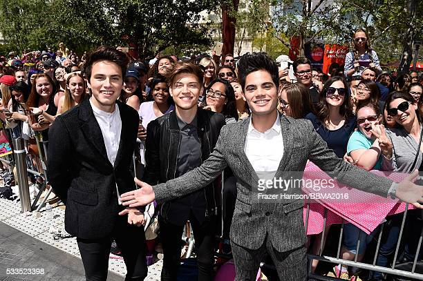 Singers Liam Attridge Ricky Garcia and Emery Kelly of Forever In Your Mind attend the 2016 Billboard Music Awards at TMobile Arena on May 22 2016 in...