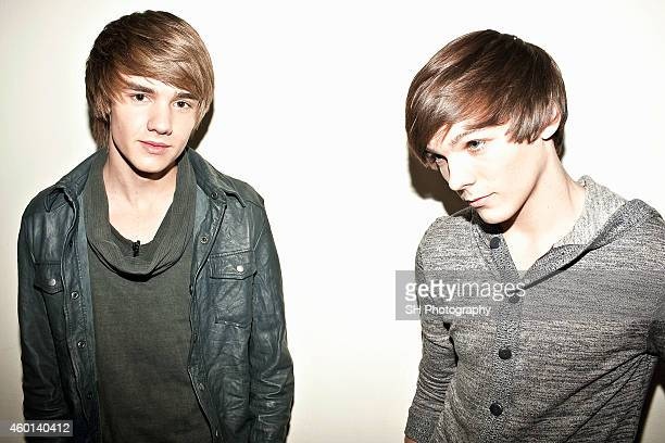 Singers Liam Payne and Louis Tomlinson of pop band One Direction are photographed on November 27 2010 in London England