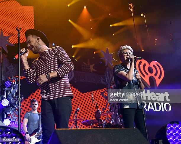 Singers Liam Payne and Niall Horan of One Direction perform onstage during 1061 KISS FM's Jingle Ball 2015 presented by Capital One at American...