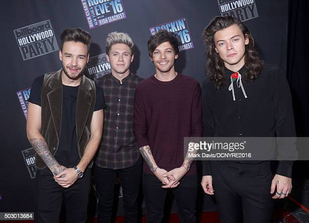 Singers Liam Payne Niall Horan Louis Tomlinson and Harry Styles of One Direction attend Dick Clark's New Year's Rockin' Eve with Ryan Seacrest 2016...