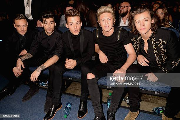 Singers Liam Payne Zayn Malik Louis Tomlinson Niall Horan and Harry Styles of One Direction attend the 2014 American Music Awards at Nokia Theatre LA...