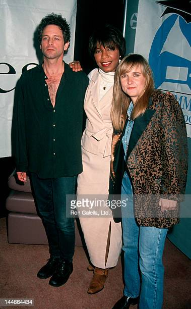 Singers Lindsey Buckingham Natalie Cole and Melissa Etheridge attending Nominees Luncheon for 34th Annual Grammy Awards on January 7 1992 at...