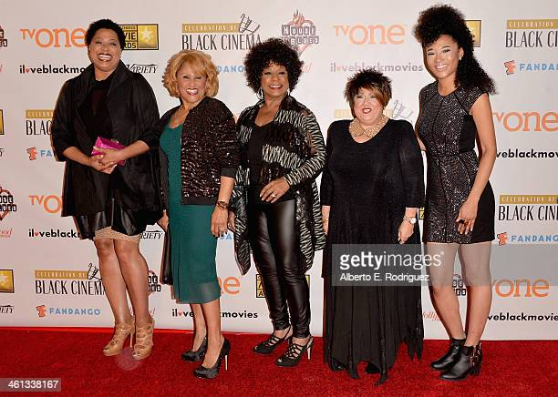 Singers Lisa Fischer Darlene Love Merry Clayton Tata Vega and Judith Hill attends the Broadcast Film Critics Association's Celebration of Black...