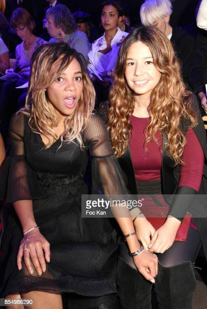 Singers Louisy Joseph and Chanez Ta attend the Christophe Guillarme Show as part of the Paris Fashion Week Womenswear Spring/Summer 2018 on September...