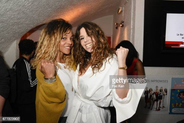 Singers Louisy Joseph from L5 band and Chanez attend 'Attachiante' Chanez Concert and Birthday Party at Sentier des Halles Club on May 2 2017 in...