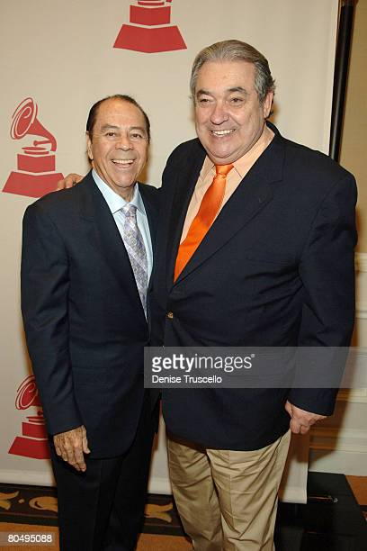 Singers Lucho Gatica and Alberto Cortez attend the 8th Annual Latin GRAMMY Awards Special Awards Ceremony at The Four Seasons Hotel on November 07...