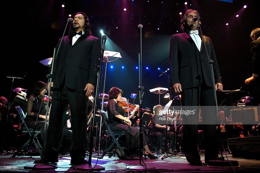 Singers Luis Ledesma And Andrea Bocelli Perform In Concert At Madison  Square Garden On November 30