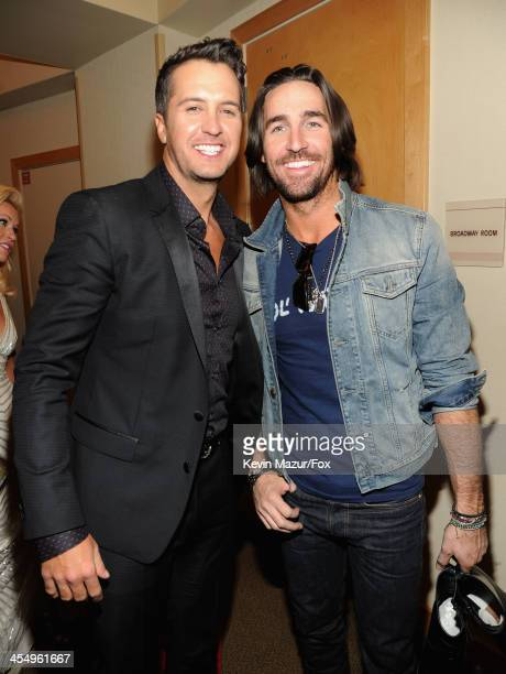 Singers Luke Bryan and Jake Owen attend the American Country Awards 2013 at the Mandalay Bay Events Center on December 10, 2013 in Las Vegas, Nevada.