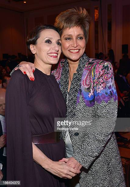 Singers Luz Casal and Daniela Romo attend the 2012 Latin Recording Academy Special Awards during the 13th annual Latin GRAMMY Awards at the Four...