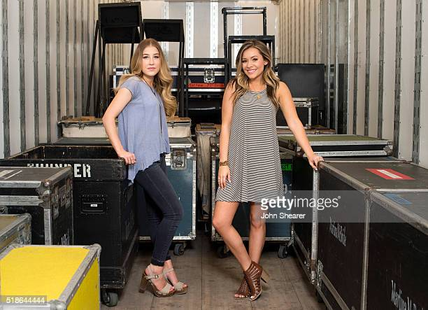 Singers Madison Marlow and Taylor Dye pose for a portrait at the 4th ACM Party For A Cause Festival on April 1 2016 in Las Vegas Nevada