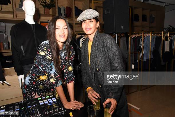 Singers Mai Lan Chapiron and Lilouchante attend Stephane Kelian Pop Up Store Launch at L'Exception on November 9 2017 in Paris France