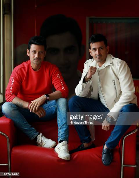 Singers Manmeet Singh and Harmeet Singh also knows as Meet Bros poses for a profile shoot at HT Media Office on January 2 2018 in New Delhi India
