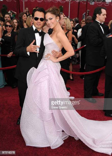 Singers Marc Anthony and Jennifer Lopez arrive at the 82nd Annual Academy Awards held at the Kodak Theatre on March 7 2010 in Hollywood California