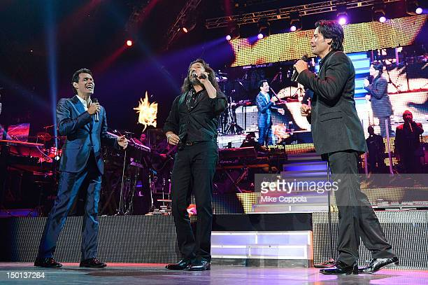 Singers Marc Anthony Marco Antonio Solis and Chayanne perform at Izod Center on August 10 2012 in East Rutherford New Jersey