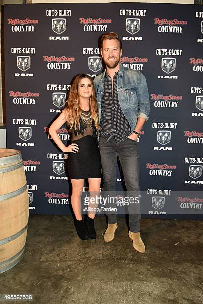 Singers Maren Morris and Charles Kelley perform for Rolling Stone Country Live at City Winery Nashville on November 3 2015 in Nashville Tennessee