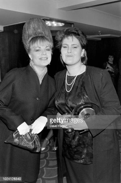 Singers Mari Wilson and Alison Moyet pose for a portrait at the BPI awards at Grosvenor House Hotel in London 1983