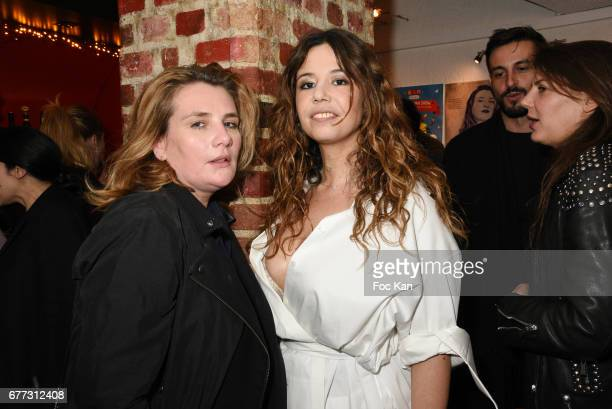 """Singers Marie Amelie Seigner and Chanez attend """"Attachiante"""" Chanez Concert and Birthday Party at Sentier des Halles Club on May 2, 2017 in Paris,..."""