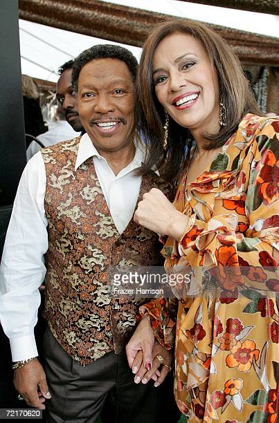 Singers Marilyn McCoo and Billy Davis Jr attend the 12th Annual Safari Brunch a fundraiser for the Wildlife Waystation held at the Playboy Mansion on...