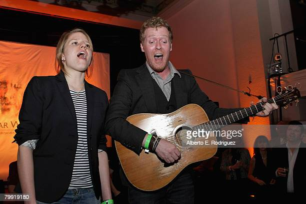 Singers Marketa Irglova and Glen Hansard perform during the Third Annual Oscar Wilde Honoring The Irish in Film reception held at the Ebell Club on...