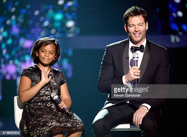 Singers Marley Fletcher and Harry Connick Jr perform onstage during FOX's American Idol Finale For The Farewell Season at Dolby Theatre on April 7...