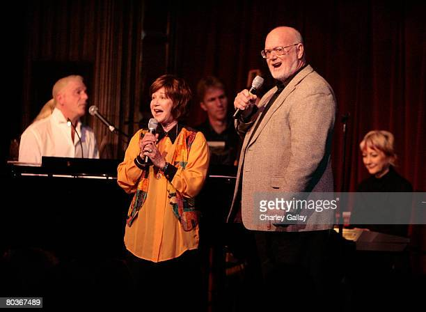 Singers Marsha Kramer and Wayne Moore perform at The Actors Fund Musical Mondays With Ron Abel at the Pantages Theater on March 24 2008 in Los...