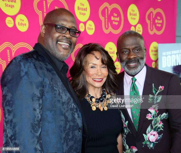 Singers Marvin Winans Freda Payne and BeBe Winans attend the opening night of Born For This at The Broad Stage on July 20 2017 in Santa Monica...