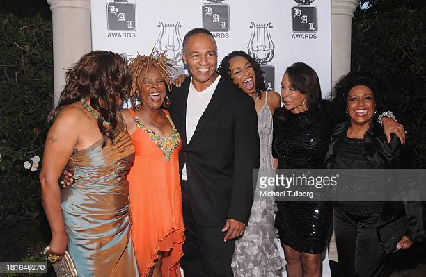 Singers Mary Wilson Thelma Houston Ray Parker Jr Siedah Garrett Freda Payne and Scherrie Payne attend the Heroes And Legends Foundation's 24th Annual...