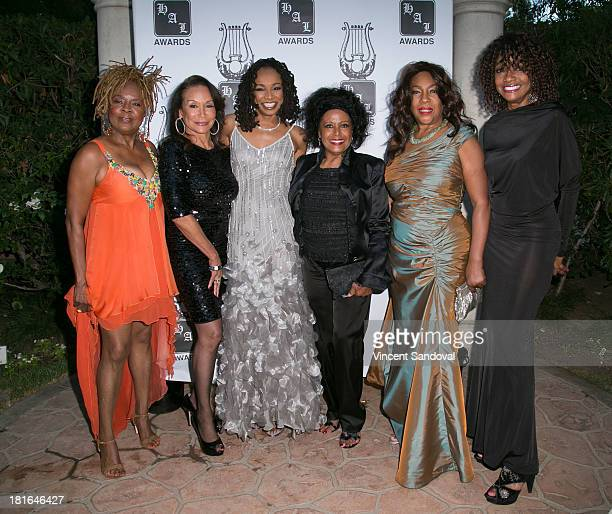 Singers Mary WilsonÊFreda PayneÊSiedah GarrettÊScherrie PayneÊMary Wilson and actressÊBeverly Todd attend the 24th annual Heroes and Legends Awards...