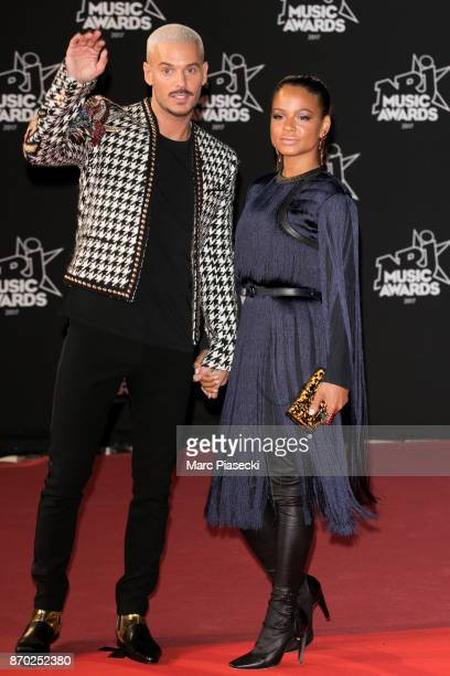 Singers Matt Pokora and Christina Milian attend the 19th 'NRJ Music Awards' ceremony on November 4 2017 in Cannes France