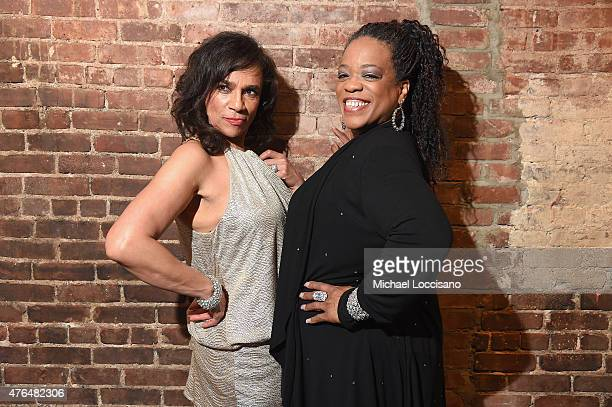 Singers Maxine Nightingale and Evelyn 'Champagne' King attend the CNN The Seventies Launch Party at Marquee on June 9 2015 in New York City...