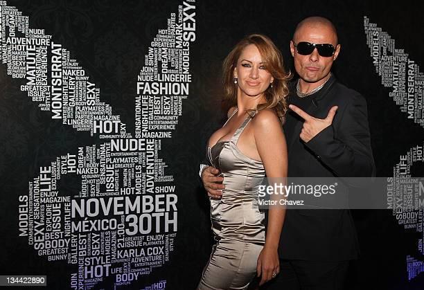 Singers Maya Karunna and Claudio Yarto attend the Christmas Playboy Mexico magazine party at the Ragga Antara Polanco on November 30 2011 in Mexico...