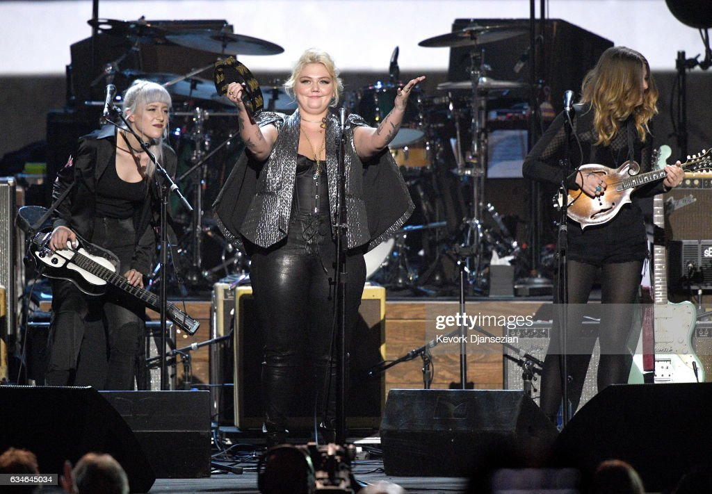 Singers Megan Lovell, Elle King and Rebecca Lovell perform onstage during MusiCares Person of the Year honoring Tom Petty at the Los Angeles Convention Center on February 10, 2017 in Los Angeles, California.