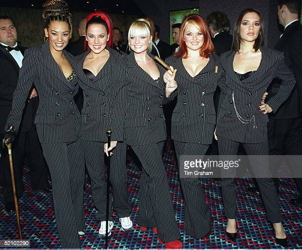 Singers Melanie Brown , Melanie Chisholm , Emma Bunton , Geri Halliwell And Victoria Beckham At The Premiere Of Their Film 'spiceworld - The Movie'...