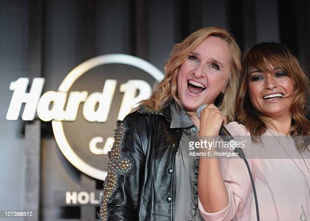Singers Melissa Etheridge and Jessie Payo attend a fan event following the ceremony honoring singer Melissa Etheridge with the 2450th Star on the...