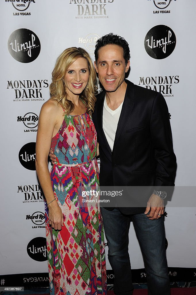 Singers Melody Leibow and Jeff Leibow arrive at 'Mondays Dark With Mark Shunock' benefiting the NF Network at Vinyl inside the Hard Rock Hotel & Casino on May 19, 2014 in Las Vegas, Nevada.