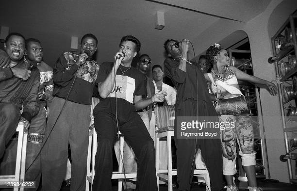 Singers Melvin Franklin of The Temptations, Gerald Alston, formerly of The Manhattans, Richard Street and Ali-Ollie Woodson of The Temptations and...