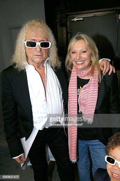 Singers Michel Polnareff and Veronique Sanson attend Michel Polnareff performs at AccorHotels Arena Bercy Day 4 on May 11 2016 in Paris