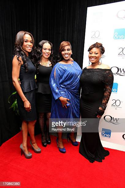 Singers Michelle Williams Faith Evans Kelly Price and Lalah Hathaway poses for photos during red carpet for gospel superstar Donald Lawrence's 20...