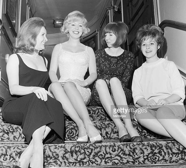 Singers Millicent Martin Kathy Kirby Cilla Black and Brenda Lee take time out for a chat during rehearsals for the Royal Varierty Performance at the...