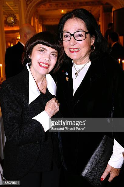 Singers Mireille Mathieu and Nana Mouskouri attend the 50th Anniversary party of Stephane Bern called Half a century it's party celebrated at...