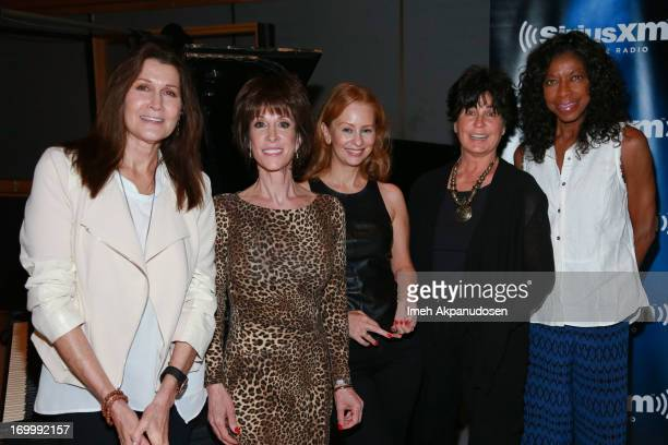 Singers Monica Mancini Deana Martin Daisy Torme Tina Sinatra and Natalie Cole attend the Siriusly Sinatra Father's Day Show at Capitol Records Studio...