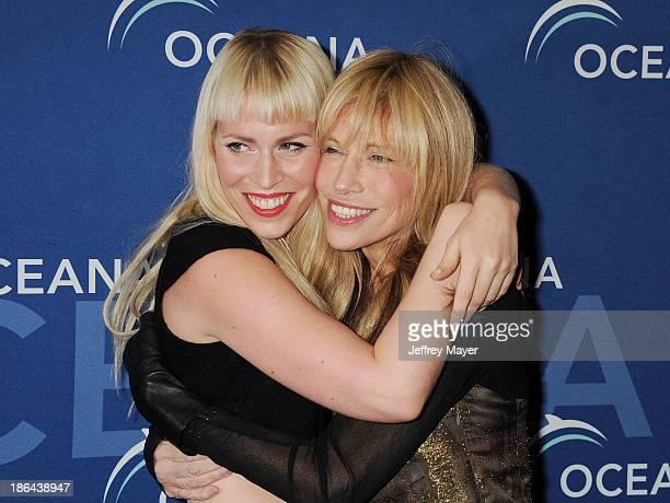 Singers Natasha Bedingfield and Carly Simon arrive at the Oceana Partners Award Gala With Former Secretary Of State Hillary Rodham Clinton and HBO...