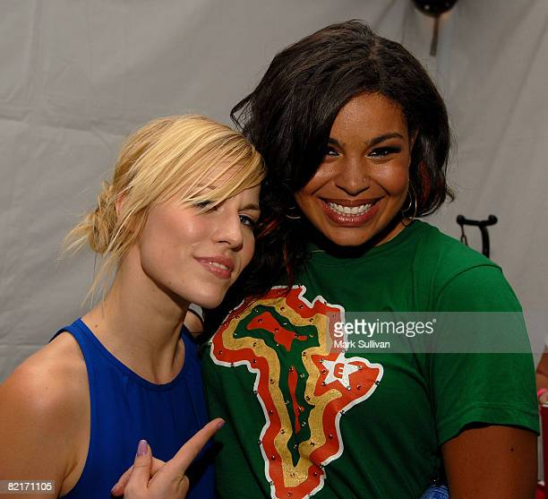 Singers Natasha Bedingfield and Jordin Sparks attend the Mattel Celebrity Retreat produced by Backstage Creations at Teen Choice 2008 on August 3...