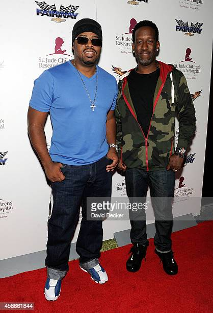 Singers Nathan Morris and Shawn Stockman of Boyz ll Men appear at St Judes Children's Rersearch Hospital's annual grand poker tournament at Vdara...