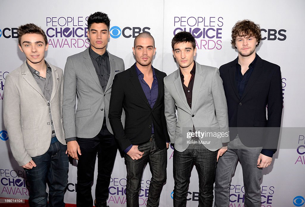 Singers Nathan Sykes, Siva Kaneswaran, Max George, Tom Parker and Jay McGuiness of The Wanted attend the 2013 People's Choice Awards at Nokia Theatre L.A. Live on January 9, 2013 in Los Angeles, California.