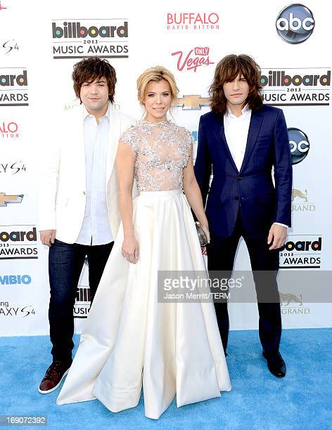 Singers Neil Perry Kimberly Perry and Reid Perry of The Band Perry arrive at the 2013 Billboard Music Awards at the MGM Grand Garden Arena on May 19...