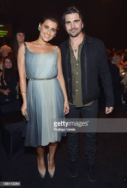 Singers Nelly Furtado and Juanes during the 2012 Person of the Year honoring Caetano Veloso at the MGM Grand Garden Arena on November 14 2012 in Las...