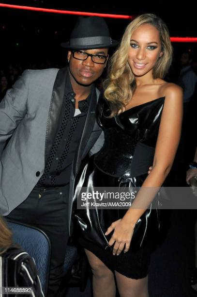 Singers NeYo and Leona Lewis attends the 2009 American Music Awards at Nokia Theatre LA Live on November 22 2009 in Los Angeles California