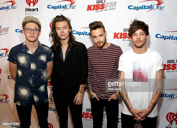 Singers Niall Horan Harry Styles Liam Payne and Louis Tomlinson of musical group One Direction attend 1061 KISS FM's Jingle Ball 2015 presented by...